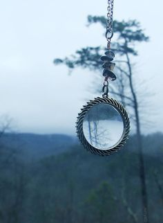 Magnifying Glass Necklace by FrolicInTheForest