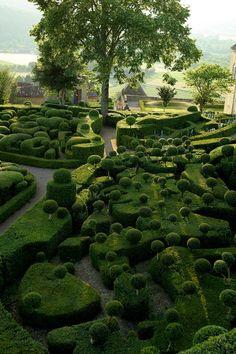 Les Jardins Suspendus de Marqueyssac. C'est vert, ca respire.