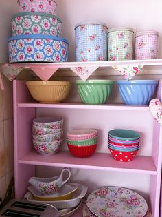 kitchen corner by patchwork and lace, via Flickr