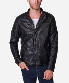 This is our newest #Jacket. A true #Motorcycle jacket that can be worn riding the 2-wheels or just with the buddies. You'll enjoy this one for sure.    #Fabric Content:  Outshell - 65%  Polyurethane - 15%  Polyester - 15%  Viscose.   Lining - 100% Polyster  #Fashion #Menswear #Style #Shop #Shopping #Top #Collection #Label #Brand #Designer