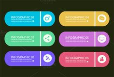 Infographic elements colored @creativework247