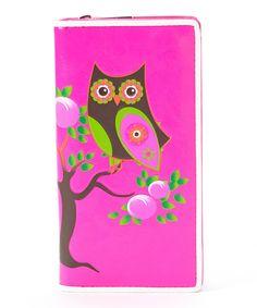 Look at this #zulilyfind! Sleepyville Critters Fuchsia Owl Wallet by Sleepyville Critters #zulilyfinds