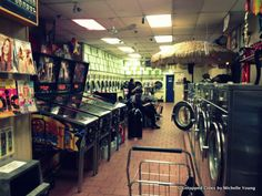 61 best laundromat moodboard images on pinterest game design sunshine laundry greenpoint brooklyn awesome speak easy hidden away in the back of the place disguised as stacked laundry machines solutioingenieria Gallery