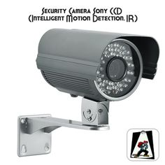 Security Camera with 1/3 Inch Sony CCD - Intelligent Motion Detection, IR