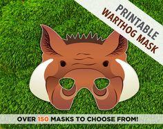 Warthog Printable Mask Wild Boar Mask Mask African by theRasilisk