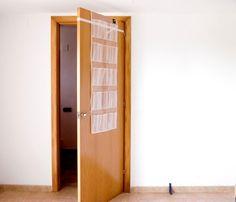KanguruDoor Friendly Over Door Storage Pockets with Blockystar Door Stop in PEVA