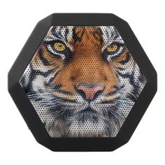 Male Siberian Tiger Paint Photograph Black Bluetooth Speaker