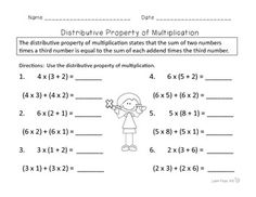Properties of Multiplication - Distributive - TpT