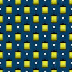 lantern vs star light fabric by sef on Spoonflower - custom fabric