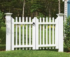 Harwich Double Walk Gate  Wood, Solid Cellular PVC and Vinyl Driveway, Estate and Walkway Gates from Walpole Woodworkers