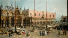 Canaletto (Giovanni Antonio Canal) ~ Piazza San Marco ~ ca. ~ Olieverf op doek ~ x 153 cm. ~ National Gallery of Art, Washington DC National Art, National Gallery Of Art, Art Gallery, Italian Painters, Italian Artist, Jean Antoine Watteau, Venetian Painters, Ancient Music, Venice Painting