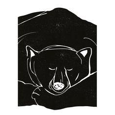 """Sleepy Bear"" poster - Size A3 (unframed)   room to decorate   scandinavian and vintage designed homewares - online shop"