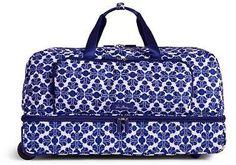 Lighten Up Large Wheeled Duffel Bag in Cobalt Tile (#15569375)