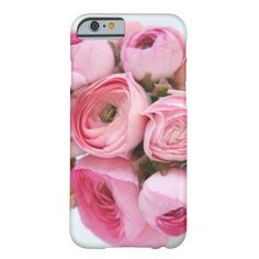 PInk ranunculus bunch Barely There iPhone 6 Case #floraliPhone6case, #girlyiPhone6case, zazzle