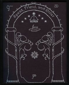 Lord of the Rings cross stitch    Shannon, please let the next bookmark you make me be something like this!
