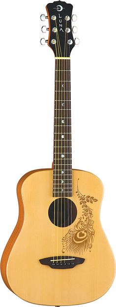I love this Luna guitar. It is so simple looking yet delicate and elegant.