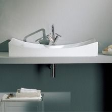 Scarabeo Supported or Wall Mounted Ceramic Washbasin without Overflow