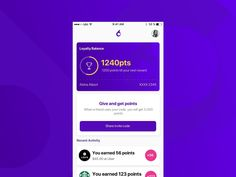 Earn points Loyalty UI ux ui dashboard card home screen app app concept ios gamification loyalty program loyalty card Loyalty Card App, Loyalty Card Design, Loyalty Rewards Program, Game Ui Design, Restaurant App, Mobile Ui Design, Mobile App Ui, Biscuits