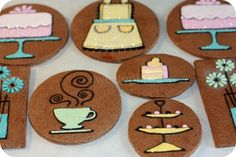 Cookie designs do not have to take up the entire cookie! Circle cookie cutters are a staple in your kitchen.