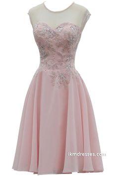 Sweetheart Sleeveless Knee-length Prom Dress Bridesmaid Dress http://www.ikmdresses.com/Sweetheart-Sleeveless-Knee-length-Prom-Dress-Bridesmaid-Dress-p88115