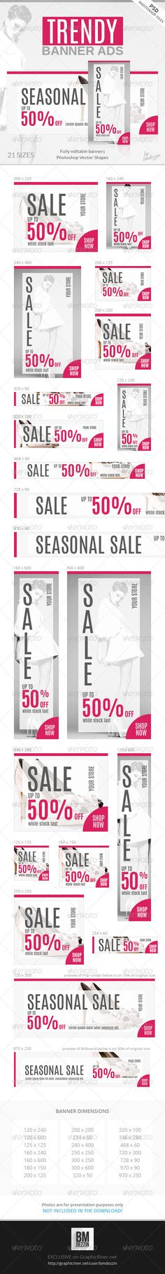 Trendy Web Banner Ads Template PSD | Buy and Download: http://graphicriver.net/item/trendy-banner-ads/7828470?WT.ac=category_thumb&WT.z_author=bmdezzin&ref=ksioks