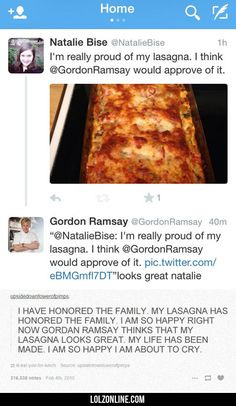 I'm Really Proud Of My Lasagna#funny #lol #lolzonline