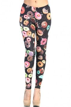 Donut Party #Leggings - Multi Color from #OMGLeggings. #Fashion