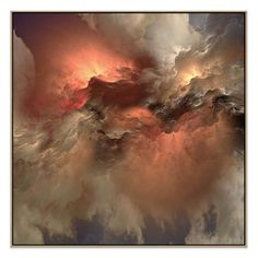 Saintly Sky 2 - Utilising a soft, cloudy look and metallic highlights, this eye-catching contemporary design adds a bold statement to any room. Prints are available in a range of sizes and orientations on our website: www.united-interiors.com.au  #interiors #interiordesign #painting #print #canvas #art #decor