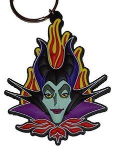 Authentic Disney Maleficent Lasercut Keychain w/ Free Disney Stickers (Key Ring)