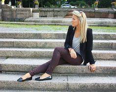love the burgundy pants