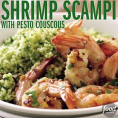 What's better than Shrimp Scampi? Shrimp Scampi and Pesto Couscous, of course! This dish will be your go-to weeknight recipe - it only takes 25 minutes to make!