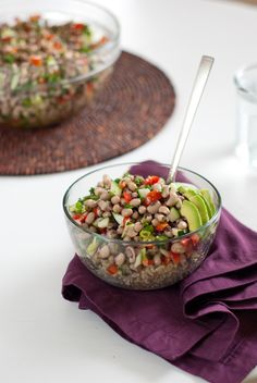 African black-eyed pea and brown rice salad