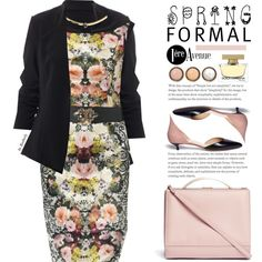Spring Formal by beebeely-look on Polyvore featuring Joseph Ribkoff, Francesco Russo, Eddie Borgo, Dolce&Gabbana, By Terry, country, springfashion, springformal, premiereavenue and premiereavenueboutique