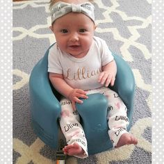 Personalized baby elephant name leggings and by PearlPearDesigns