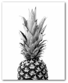 Set of 3 Tropical Prints Pineapple Sea Palm Leaf Prints Abstract Leaves Black And White Decor 810 inches Unframed White Decor, White Art, Black Decor, Black And White Leaves, Black And White Wallpaper, Black And White Posters, Tropical Decor, Tropical Prints, Marble Art