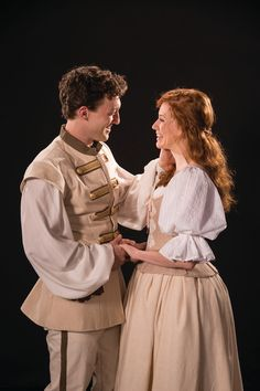 Luigi Sottile (left) as Claudio and Leslie Lank as Hero in the Utah Shakespeare Festival's 2016 production of Much Ado about Nothing, publicity photo. (Photo by Karl Hugh. Copyright Utah Shakespeare Festival 2016.) @utahshakespeare #muchado