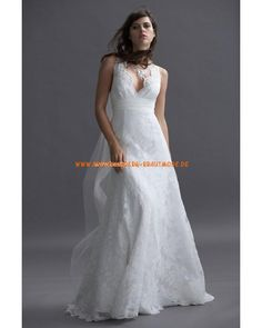 Sexy 2013 Brautkleider rückenfrei aus Chiffon und Satin Herzausschnitt