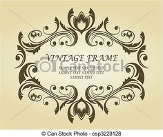 Vintage Frame In Victorian Style Stock Illustration Royalty