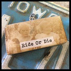 Julie's Junktique (Etsy.com) MOUTHWASH domino pendant- RIDE OR DIE