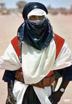 "Africa | ""Tuareg warrior"".  Republic of Niger 