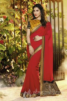 http://www.mangaldeep.co.in/just-in/lovely-sophie-choudry-red-designer-party-wear saree-4298 For further inquiry whatsapp or call at +919377222211