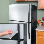 STAINLESS STEEL PVC Contact Paper. Dated fridge or dishwasher? This is great idea