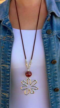 upcycled Barneys Gold Swirl Fabric Necklace
