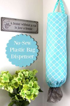 sew blankets - A plastic bag dispenser that is easy to make! If you need to store plastic bags in a homemade dispenser, this DIY plastic bag holder is simple to make! Learn how to do this plastic bag dispenser DIY project without sewing too! Diy Plastic Bag Holder, Storing Plastic Bags, Plastic Bag Dispenser, Plastic Bag Storage, Diy Storage, Grocery Bag Storage, Diy Bag Dispenser, Kitchen Storage, Grocery Bag Holder