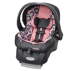 Evenflo Embrace LX Infant Car Seat, Penelope Designed specifically for the tiniest of newborns fitting a child from 4 pounds. Up to 35 pounds. The Evenflo Baby Doll Car Seat, Pink Infant Car Seat, Baby Carrier Newborn, Baby Car Mirror, Best Car Seats, Baby Equipment, Reborn Babies, Reborn Dolls, Trendy Baby