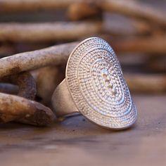 Tutti & Co Darcy Silver Filigree Ring|lizzielane.co.uk £12