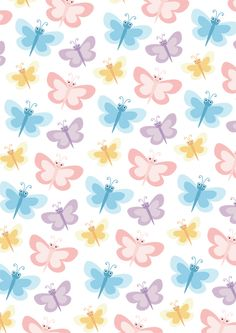 Spring has arrived! Flower Wallpaper, Pattern Wallpaper, Wallpaper Backgrounds, Butterfly Pattern, Butterfly Print, Cellphone Wallpaper, Iphone Wallpaper, Printable Scrapbook Paper, Butterfly Pictures