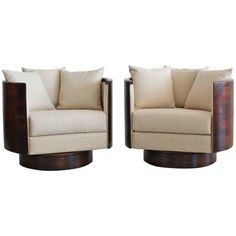 Barrel Back Swivel Chair | From a unique collection of antique and modern swivel chairs at https://www.1stdibs.com/furniture/seating/swivel-chairs/