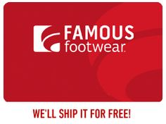 $25 Famous Footwear Giftcard giveaway!