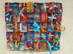 Nevelson inspired art; make the first 4 cuts together to make a box, then have them use strips to create a relief sculpture